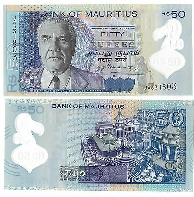 Mauritius - New Issue Polymer 50 Rupees Unc Banknote 2013 Year
