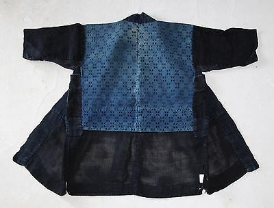 "Japanese Antiques- Indigo Sashiko ""Noragi"" from 19th century - ""Kogin sashi"""