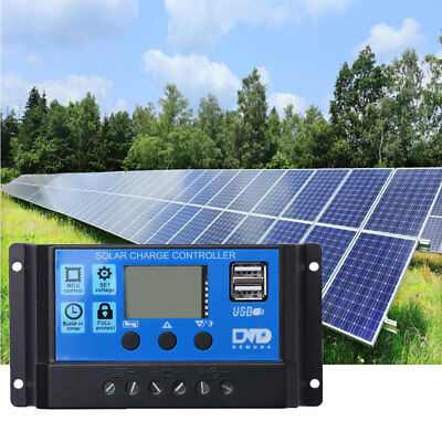 12V/24V Solar Panel Battery Regulator Charge Controller 20A PWM LCD **Quality**