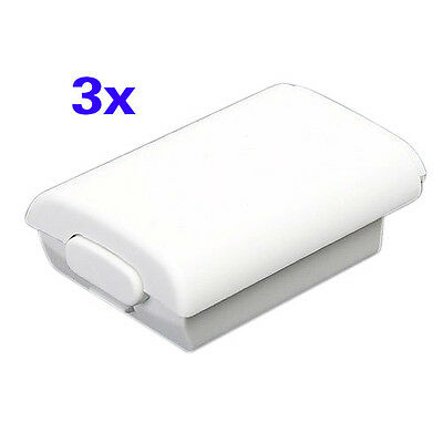 3X Battery Back Cover Shell Pack Part fr Xbox 360 Wireless Controller White