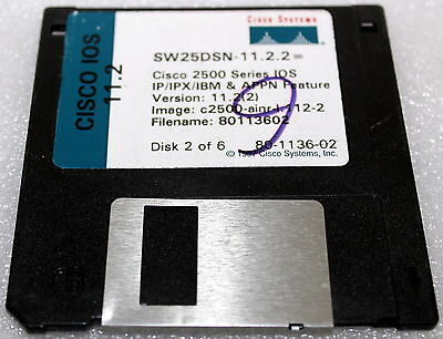 Cisco Systems Sw25Dsn-11.2.2 2500 Series Iso 11.2 Ver 11.2(2)Disk 2 Of 6 80-1136