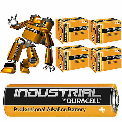 40 Duracell Procell Industrial Aa Alkaline Batteries Lr04, Mn1500 Exp.2021