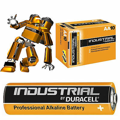 10 Aa Duracell Industrial Alkaline Battery Mn500 Lr6 Replaces Procell