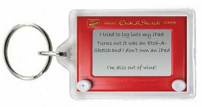 Ipod iPad Login Etch a Sketch Own Draw Wine Drink Quotes Saying Gift Novelty