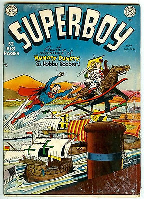 Superboy #9 (1950; fn- 5.5) Price guide value in this grade: $322.00 (£220.00)