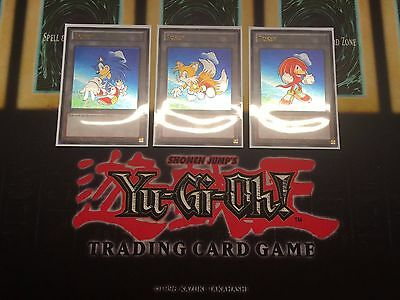 Sonic The Hedgehog Tokens Custom Ultra Rare Yugioh Tokens (Tails and Knuckles)