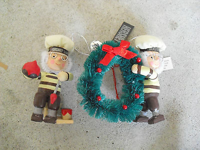 Lot of 2 1995 Hershey Chocolate Elves Christmas Ornaments NWT