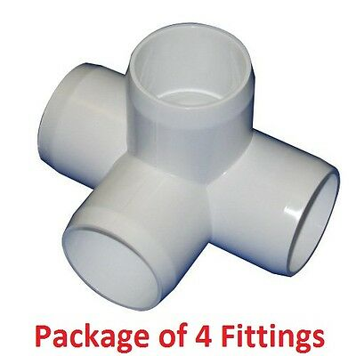 1 Furniture Grade 3 Way Corner Elbow Pvc Fitting 4 Pack 949