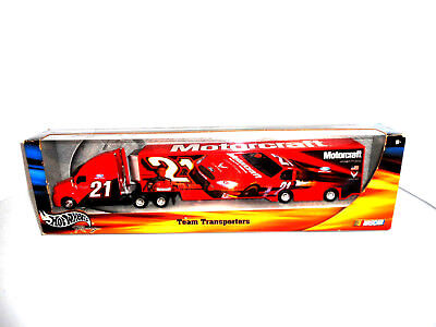 Hotwheels Nascar TeamTransporter Ricky Rudd B0998 Collectable Metal Ford Racing