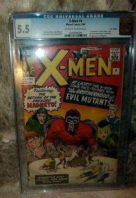 Marvel Comics CGC 5.5 X MEN  # 4 QUICKSILVER SCARLET WITCH 1964 EVIL MUTANTS