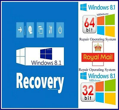Windows 8.1 Professional 32 + 64  Bit Reinstall Repair Recovery ISO (Download)