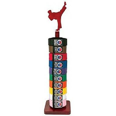 Proforce Square TKD Figure Taekwondo 10 Rank Belt Display Free-Standing Rack