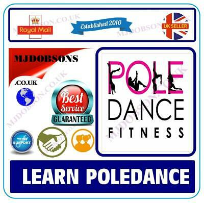 Pole Dancing For Beginners Dvd Step By Step Guide Fitness Keep Fit✅(Md41)