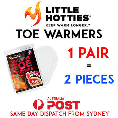 LITTLE HOTTIES 1 Pair (2 Bags) Pocket Toe Warmers 5 Hours Heat Packs