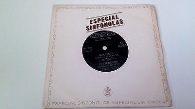 """Ramones / Pretenders """"she Is A Sensation /message Of Love"""" 7"""" Spanish Single A/a"""