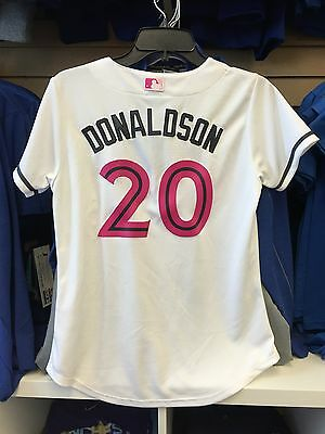 Josh Donaldson Toronto Blue Jays Cool Base Mothers Day Jersey Women's Large
