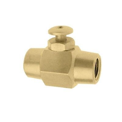 "Push Button Brass Air Control Shut On Off Valve Switch 1/4"" NPT Air or Liquid"