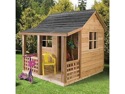 Kid's Wooden Cubby House Deluxe Kids Children Playhouse Play House Hut NEW