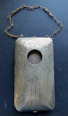 ANTIQUE LADIES VESTA SMOKING CASE - GERMAN SILVER with Coin Holder Ashtray etc.