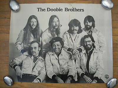 "THE DOOBIE BROTHERS - ORIG US 1970's POSTER (21""x27"") - WB PROMO ONLY - RARE!!"