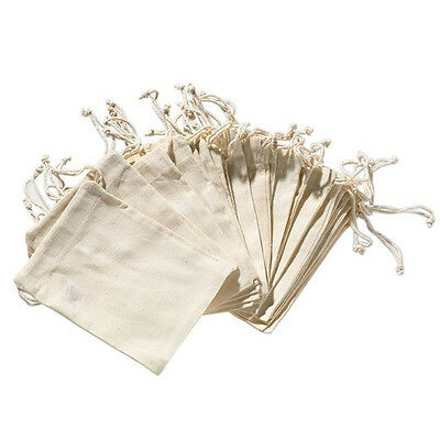 12 pieces Natural Linen bag Jewelry Pouch drawstring gift bags