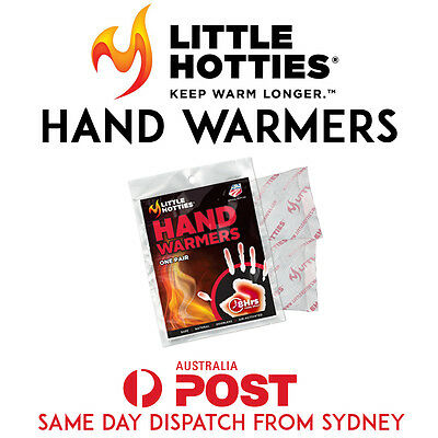 1 Pair 2 Little HOTTIES Hand Warmers Heat Pack Socks Heater Snow Ski Body SYD