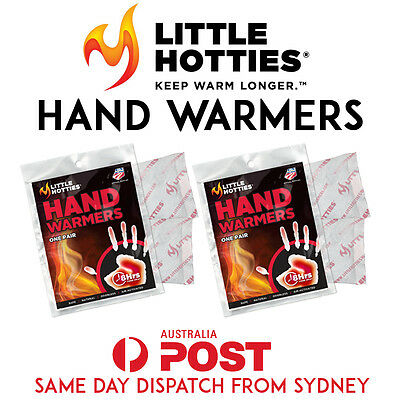 2 Pairs 4 Little HOTTIES Hand Warmers Heat Pack Socks Heater Snow Ski Body SYD