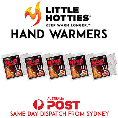 5 Pairs 10 Little HOTTIES Hand Warmers Heat Pack Socks Heater Snow Ski Body SYD