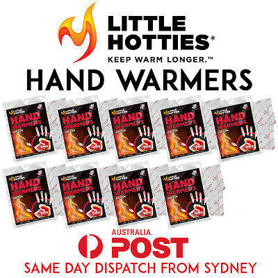 9 Pairs 18 Little HOTTIES Hand Warmers Heat Pack Socks Heater Snow Ski Body SYD