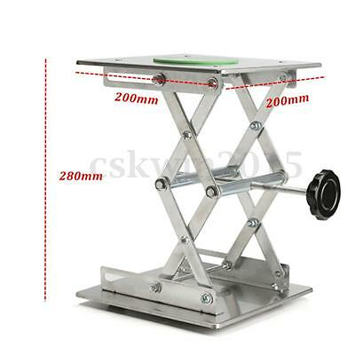8'' 200x200mm Countertop Stainless Steel Lifting Platform Laboratory Jack Stand