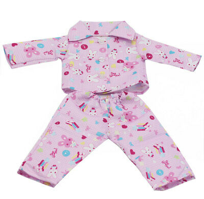 "Pink LOVE Pajamas Clothes for American/Our Generation/Journey Girl 18"" Doll"