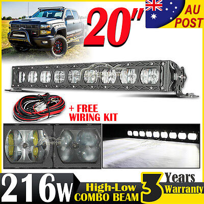 20inch 216W CREE LED Work Light Bar Full-Low Beam Combo Offroad Driving 4WD 23""