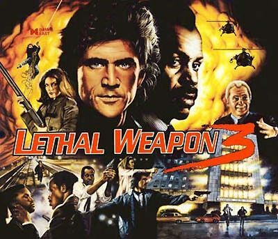 Data East Lethal Weapon 3 Pinball Cabinet Light Mod BLUE