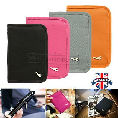 UK Travel Bag Passport Holder Cover case Tickets ID card Wallet Purse Organiser