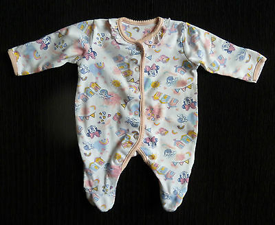 Baby clothes GIRL 0-1m Disney Minnie Mouse beach huts babygrow 2nd item post-fre