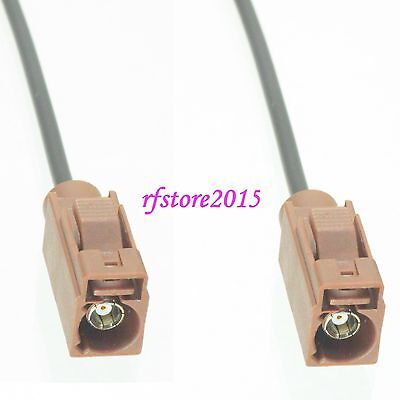 Cable RG174 6inch Fakra SMB F 8011 female to F female jack RF Pigtail Jumper