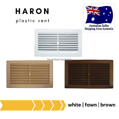 Haron Plastic House Caravan Wall Cupboard Louvre Eave Air Vent White 245 x 145mm