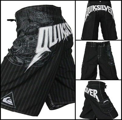 Men's Casual Black Quiksilver Boardshorts Quick-Dry Surf Shorts Size 30-40 ❤Aus❤