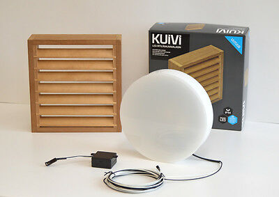 SAUNA LED Wall Light Lamp 3W 340 Lumens IP44 Wooden Shade In 5 Different Colours