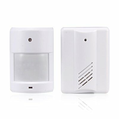 Door Bell Alarm Chime Wireless Infrared Monitor Sensor Detector Entry Doorbell