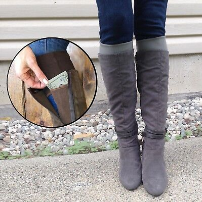 Boot Toppers With Stash Pockets. Boot cuffs made in USA