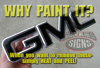 DOMED & non-domed GMC SIERRA individual emblem overlays 3M™ Denali grill or rear
