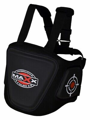 Maxx Belly Protector Body Pad Armour Guard Chest MMA UFC BOXING PAD Black / RED