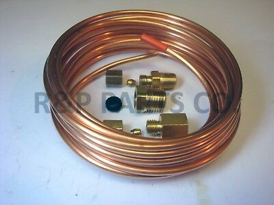 "Vacuum Mechanical Gauge Copper Tubing Line Kit 1/8"" OD x 12' Foot"