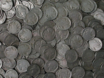 500 * NO DATE / DATELESS Buffalo Nickel Lot * NO ACID DATES * HUGE ESTATE HOARD