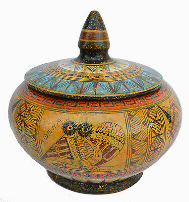 Geometric Period Pyxis - Greece National Museum Replica of 700 BC