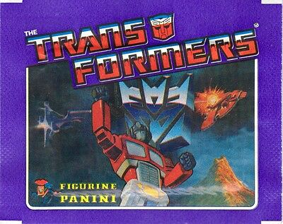 VINTAGE PANINI TRANSFORMERS **Unopened** sticker Packet 1987 G1 - MINT condition