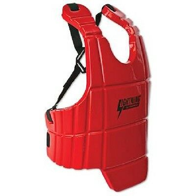 ProForce Lightning Sports Body Guard Karate Chest Protector - Red