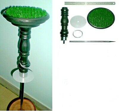 """New Falconry Block Perch 6""""at discount, AstroTurf  (Portable 5 in 1)"""