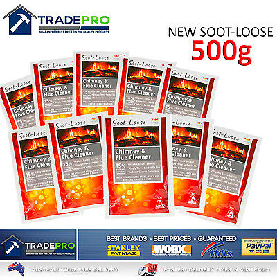 Soot Loose Chimney Flue Fire Cleaner 500g NEW Genuine Rubbedin Fireplace Clean